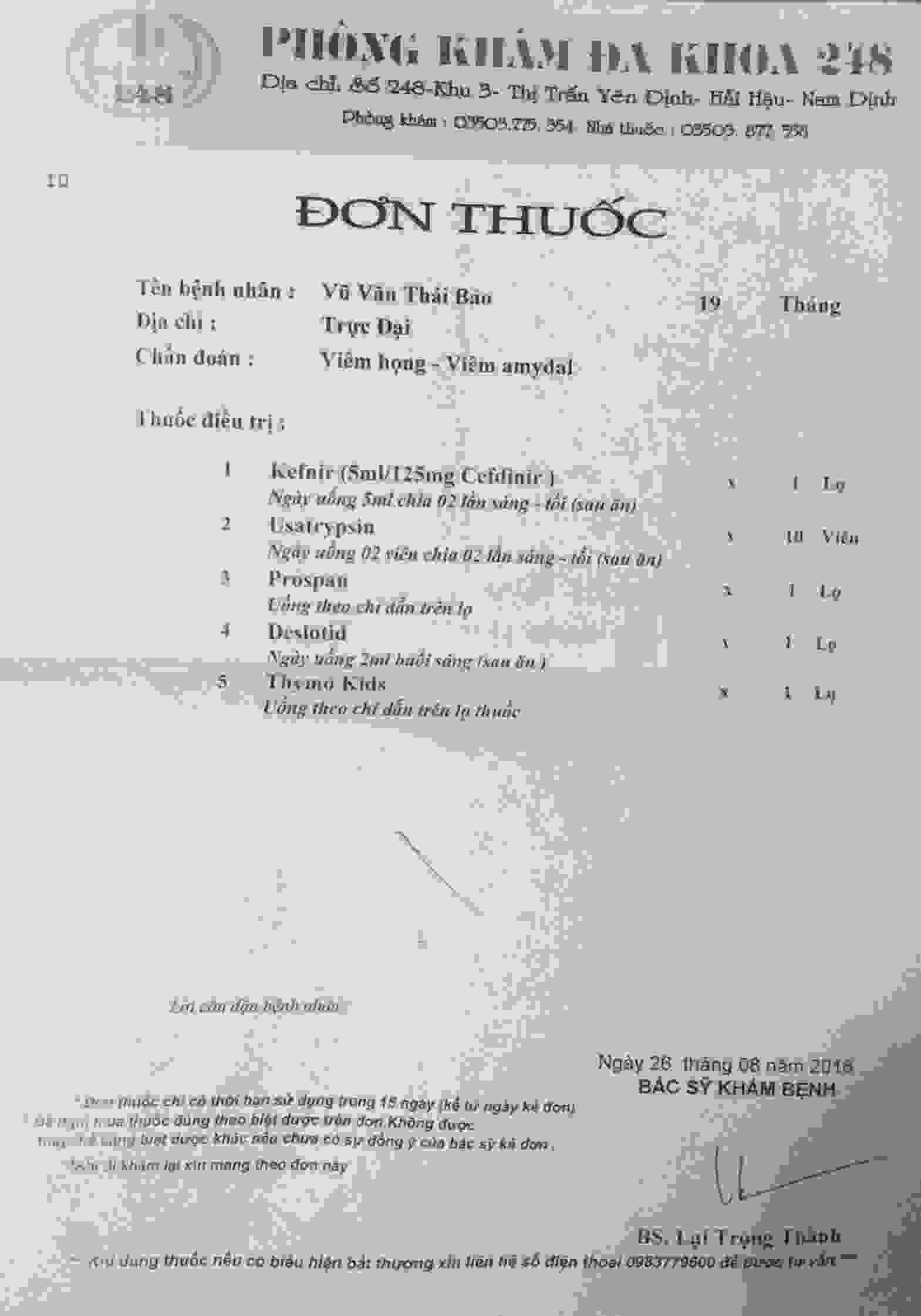 Don thuoc be Thai Bao