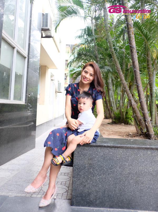 Nhờ sử dụng GS Imunostim, bé Khoai đã không còn ốm sốt, đi viện